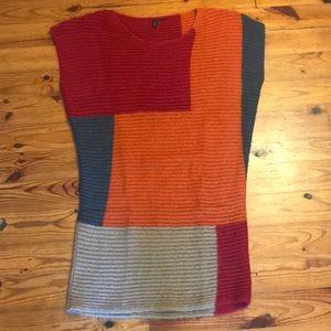 Sweater Dress Women's Benetton Color Block